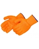 Two-sided Clear PVC Honeycomb Gloves- Orange
