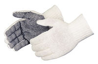 String Knit Glove, Polyester/Cotton with PVC dots