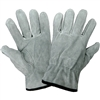 Gloves, Grey Split Cowhide Drivers, Keystone Thumb