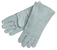 Welders Glove, Gray Leather Triple layered