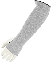 "18"" 2- Ply Cut Resistant Sleeves with Thumb Hole- Grey"