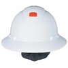 FULL BRIM HARD HAT, WHITE, W/ RATCHET & UVICATOR