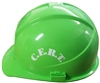 Hard Hat, Green, with CERT imprint on sides in white