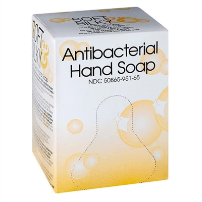 Antibacterial Liquid Hand Soap, Transparent Amber, Case of 12 Boxes