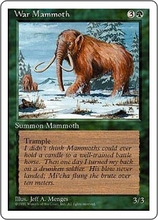 War Mammoth - Fourth Edition - Common