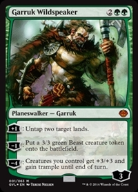 Garruk Wildspeaker - Duel Decks Anthology, Garruk vs. Liliana - Mythic Rare