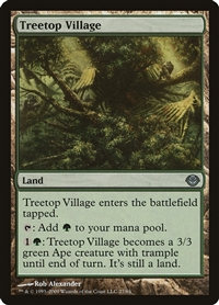 Treetop Village - Duel Decks Anthology, Garruk vs. Liliana - Uncommon