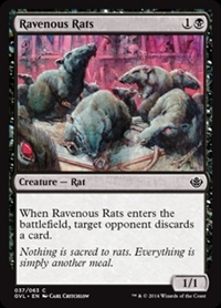 Ravenous Rats - Duel Decks Anthology, Garruk vs. Liliana - Common