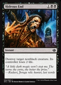 Hideous End - Duel Decks Anthology, Garruk vs. Liliana - Common