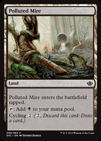 Polluted Mire - Duel Decks Anthology, Garruk vs. Liliana - Common