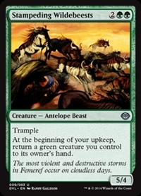 Stampeding Wildebeests - Duel Decks Anthology, Garruk vs. Liliana - Uncommon