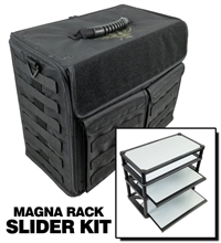 P.A.C.K. 432 Molle Horizontal with Magnra Rack Slider Load Out (Black) - BF-BB432MB-MRSML