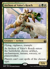 Archon of Valor's Reach - Battlebond - Rare