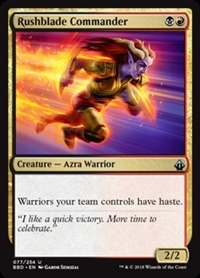 Rushblade Commander - Battlebond - Uncommon
