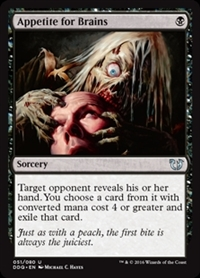 Appetite for Brains - Duel Decks: Blessed vs. Cursed - Uncommon