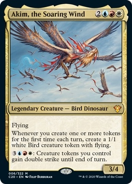 Akim, the Soaring Wind - Ikoria Commander 2020 - Mythic Rare