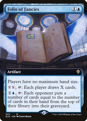 Folio of Fancies - Extended Art - Throne of Eldraine Collector Boosters - Rare