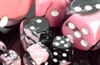 Chessex 12D6 - 16mm Gemini Black-Pink with White Pips