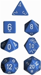 Chessex Polyhedral 7 Die Set - Opaque Light Blue with White Numbers