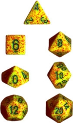 Chessex Polyhedral 7 Die Set - Speckled Lotus