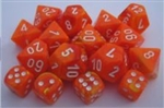 Chessex Polyhedral 7 Die Set - Vortex Solar with White Numbers