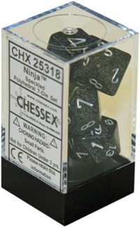 Chessex Polyhedral 7 Die Set - Speckled Ninja