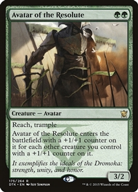Avatar of the Resolute - Dragons of Tarkir - Rare