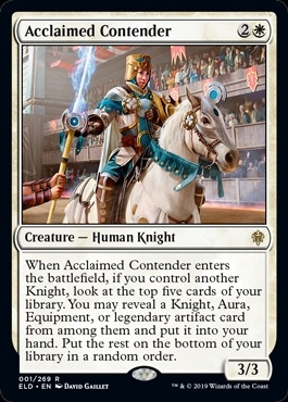 Acclaimed Contender - Throne of Eldraine - Rare