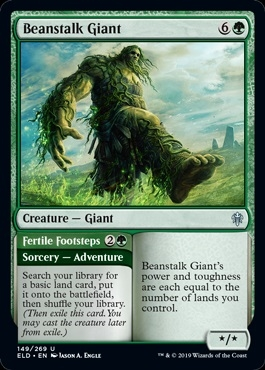 Beanstalk Giant - Throne of Eldraine - Uncommon