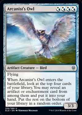 Arcanist's Owl - Throne of Eldraine - Uncommon