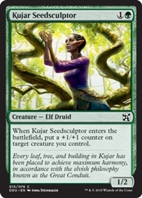 Kujar Seedsculptor - Duel Decks: Elves vs. Inventors - Common