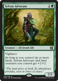 Sylvan Advocate - Duel Decks: Elves vs. Inventors - Rare
