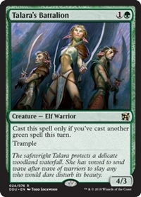Talara's Battalion - Duel Decks: Elves vs. Inventors - Rare