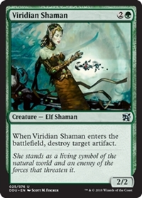 Viridian Shaman - Duel Decks: Elves vs. Inventors - Uncommon