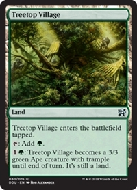 Treetop Village - Duel Decks: Elves vs. Inventors - Uncommon