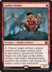 Goblin Welder - Duel Decks: Elves vs. Inventors - Mythic Rare