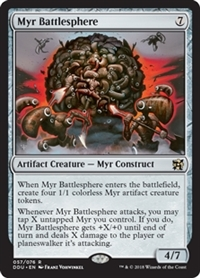 Myr Battlesphere - Duel Decks: Elves vs. Inventors - Rare