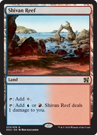 Shivan Reef - Duel Decks: Elves vs. Inventors - Rare
