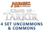 Khans of Tarkir 4 Set Uncommons & Commons