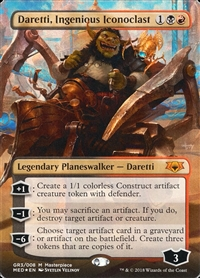 Daretti, Ingenious Iconoclast - Guilds of Ravnica Mythic Edition - Mythic Rare