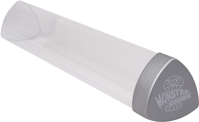 Monster Protectors Playmat Tube - Clear with Silver Lid