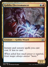 Goblin Electromancer - Duel Decks: Mind vs. Might - Common