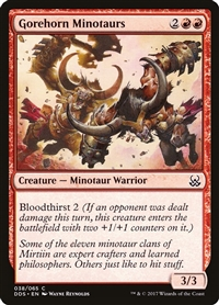 Gorehorn Minotaurs - Duel Decks: Mind vs. Might - Common