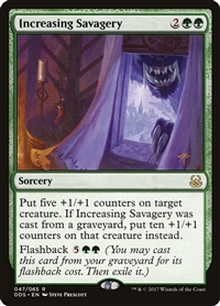 Increasing Savagery - Duel Decks: Mind vs. Might - Rare
