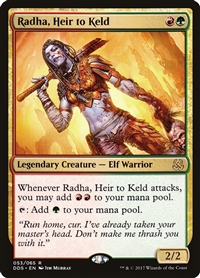 Radha, Heir to Keld - Duel Decks: Mind vs. Might - Rare