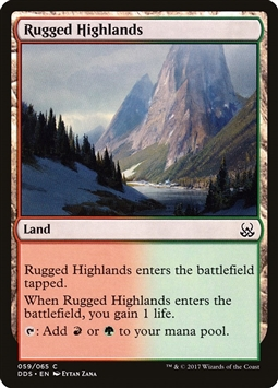 Rugged Highlands - Duel Decks: Mind vs. Might - Common