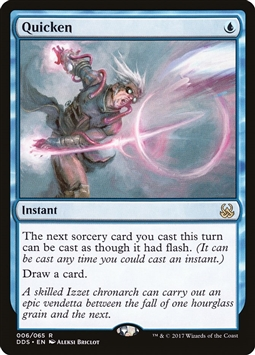 Quicken - Duel Decks: Mind vs. Might - Rare