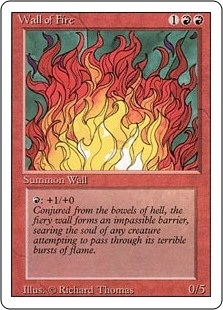 Wall of Fire - Revised Edition - Uncommon