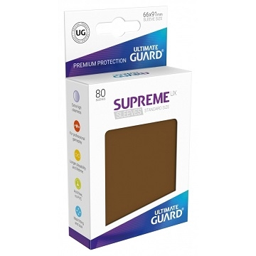 Ultimate Guard Supreme UX Sleeves: Matte Brown