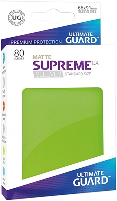 Ultimate Guard Supreme UX Sleeves(80): Matte Light Green